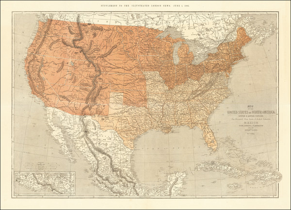 58-United States and Civil War Map By Thomas Ettling / Illustrated London News