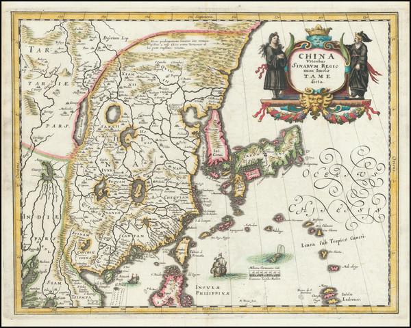 68-China, Japan and Korea Map By Matthaus Merian