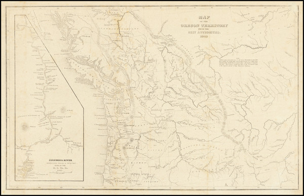 3-Rocky Mountains, Pacific Northwest, Oregon and Washington Map By Charles Wilkes
