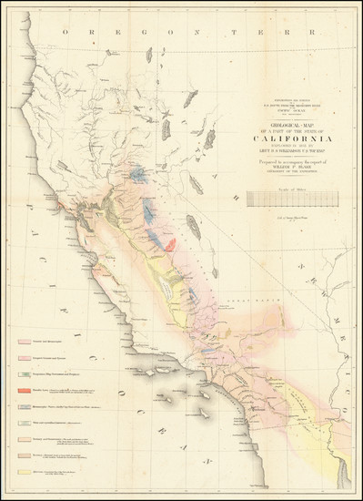 38-California Map By U.S. Pacific RR Survey