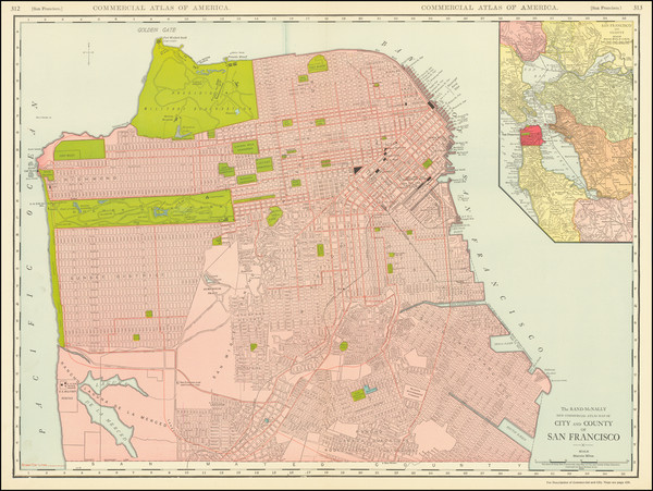8-San Francisco & Bay Area Map By William Rand  &  Andrew McNally