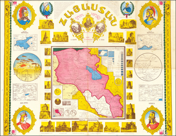 24-Central Asia & Caucasus Map By Hovhannes K Babessian
