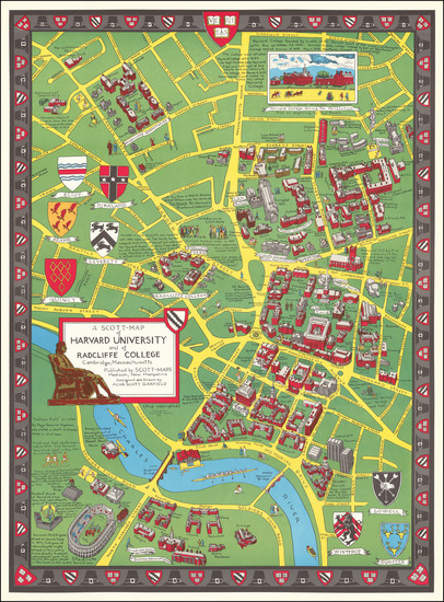 5-Pictorial Maps and Boston Map By Alva Scott Garfield