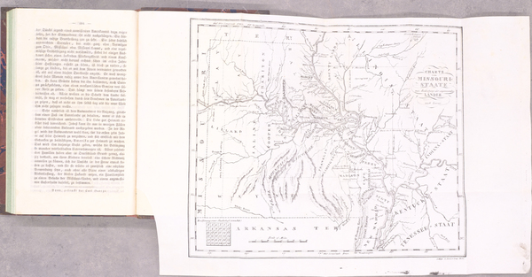 39-Missouri and Rare Books Map By Gottfried Duden