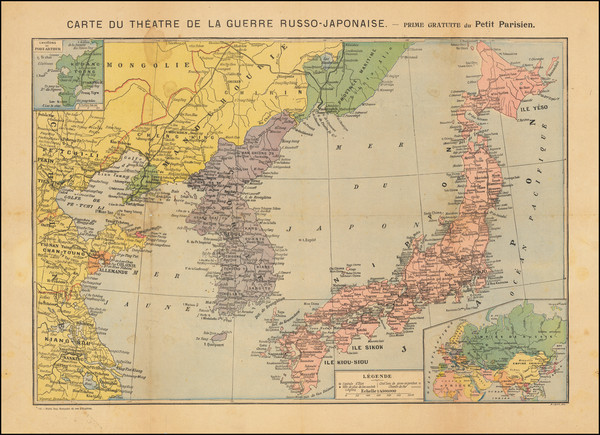 45-China, Japan, Korea and Russia in Asia Map By A Levy