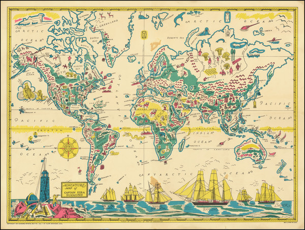 98-World and Pictorial Maps Map By Diamond Crystal Salt Company