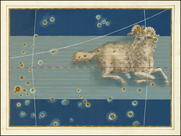 92-Celestial Maps Map By Johann Bayer