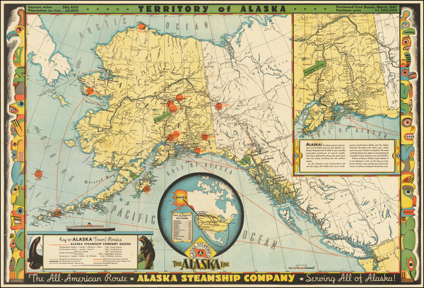 19-Alaska and Pictorial Maps Map By Frank McCaffrey