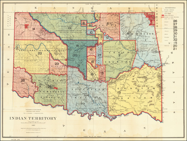 60-Plains and Southwest Map By U.S. General Land Office
