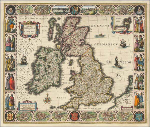 38-British Isles Map By Willem Janszoon Blaeu