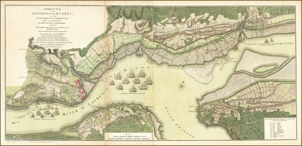41-Canada and Quebec Map By Thomas Jefferys