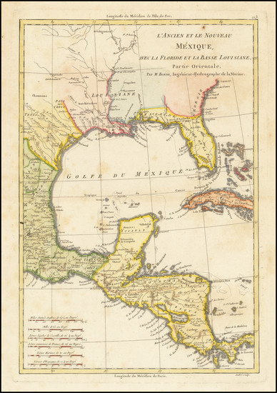 64-Florida, Texas, Southwest and Mexico Map By Rigobert Bonne