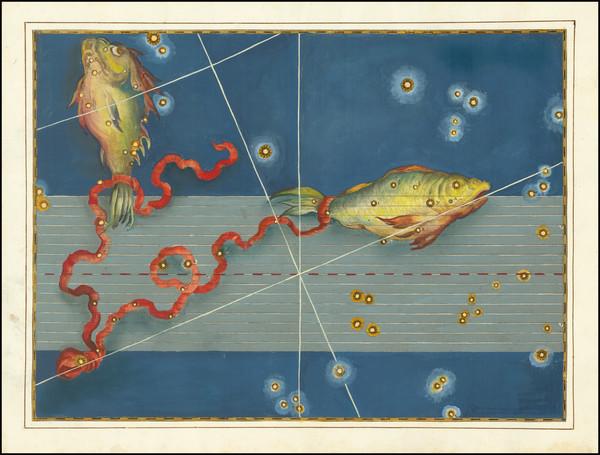 82-Celestial Maps Map By Johann Bayer