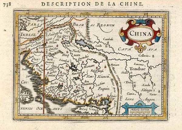 89-Asia, China and Korea Map By Pieter Bertius