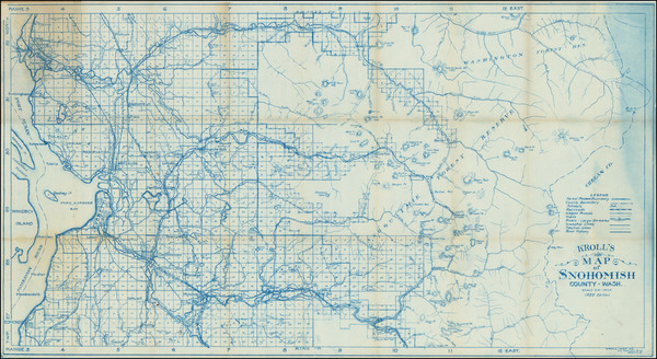 82-Washington Map By Kroll Map Company
