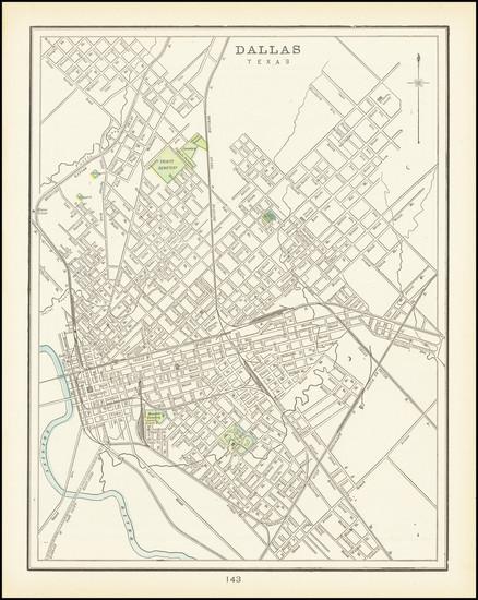 75-Texas Map By George F. Cram