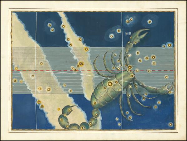 60-Celestial Maps Map By Johann Bayer