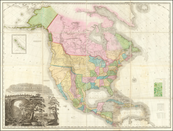 20-United States and North America Map By Henry Schenk Tanner