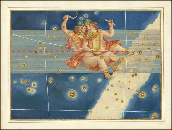56-Celestial Maps Map By Johann Bayer