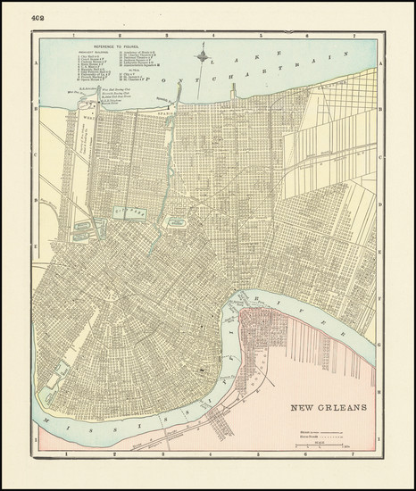 25-Louisiana and New Orleans Map By George F. Cram