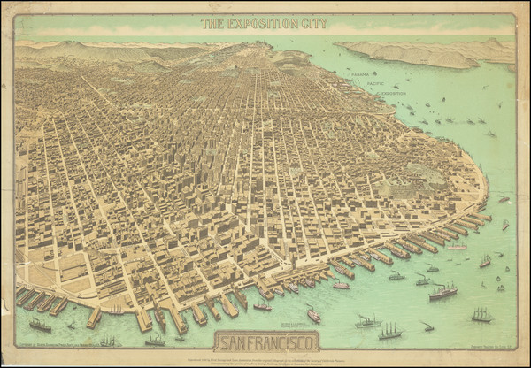 95-San Francisco & Bay Area Map By North American Press Assn.