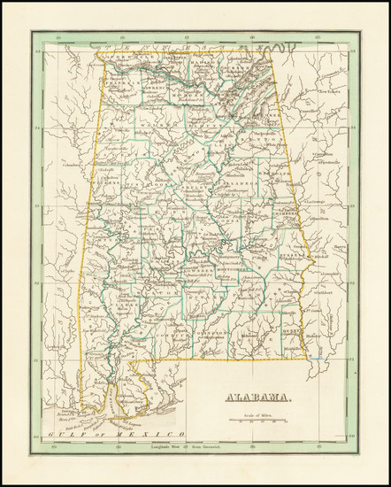 98-Alabama Map By Thomas Gamaliel Bradford