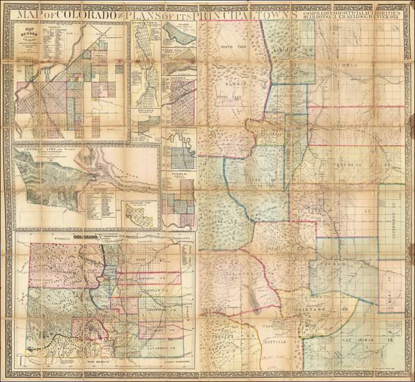 37-Colorado and Colorado Map By J.H. Bonsall  &  E.H. Kellogg