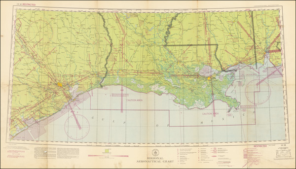 98-Louisiana, Mississippi and Texas Map By U.S. Coast & Geodetic Survey
