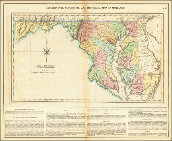 26-Maryland Map By Henry Charles Carey  &  Isaac Lea