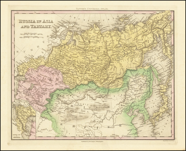 59-Russia, Central Asia & Caucasus and Russia in Asia Map By Henry Schenk Tanner