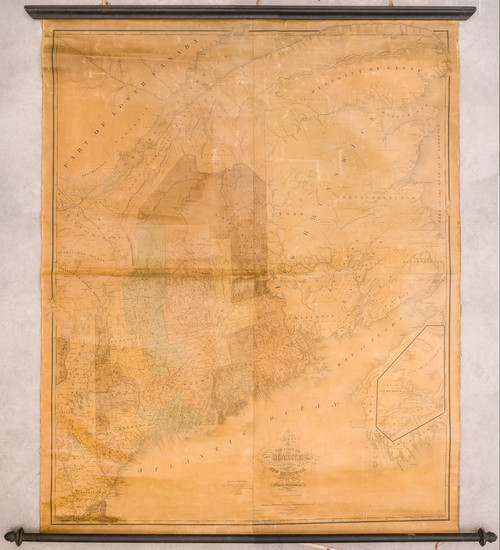 95-New England, Maine and Eastern Canada Map By Moses Greenleaf