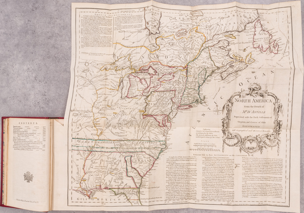 36-United States and Rare Books Map By Thomas Jefferys / William Douglass