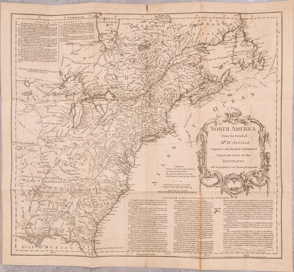 66-United States and Rare Books Map By Thomas Jefferys / William Douglass
