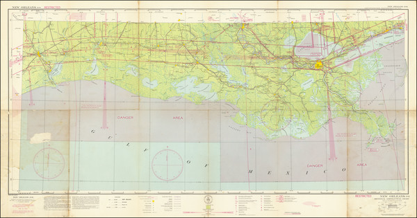 6-Louisiana, Mississippi and Texas Map By U.S. Coast & Geodetic Survey