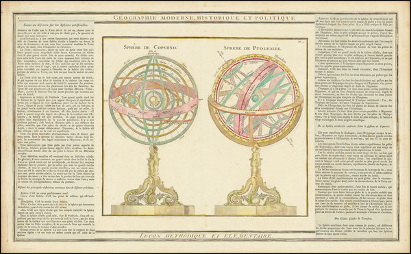 68-Celestial Maps Map By Louis Brion de la Tour