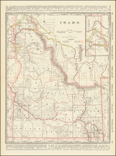 23-Idaho Map By George F. Cram
