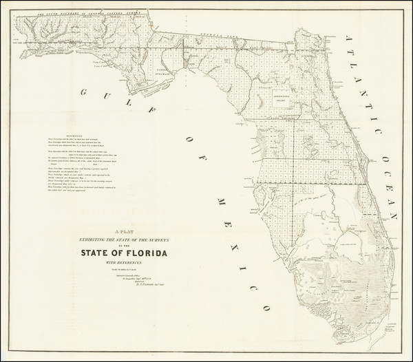 24-Florida Map By U.S. Surveyor General