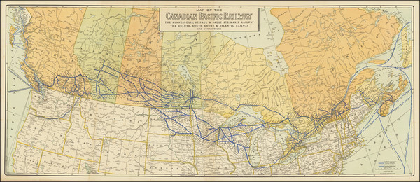 88-Midwest, Plains, Canada and Western Canada Map By Poole Brothers
