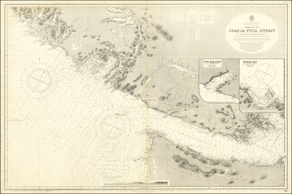83-Washington and Western Canada Map By British Admiralty