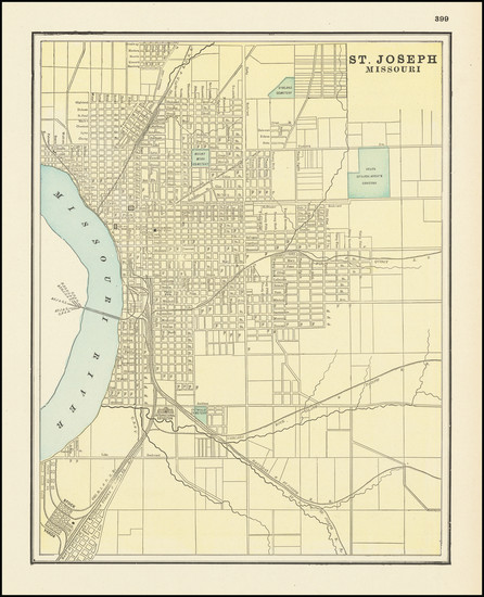 22-Missouri Map By George F. Cram
