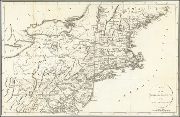 44-New England, New York State and Mid-Atlantic Map By Francois A.F. La Rochefoucault-Liancourt