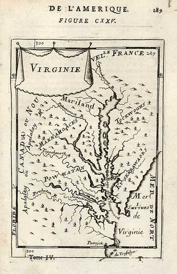 87-Mid-Atlantic and Southeast Map By Alain Manesson Mallet