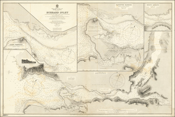 82-British Columbia Map By British Admiralty