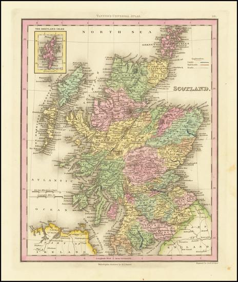 25-Scotland Map By Henry Schenk Tanner