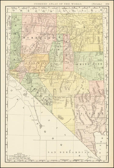 6-Nevada Map By Rand McNally & Company