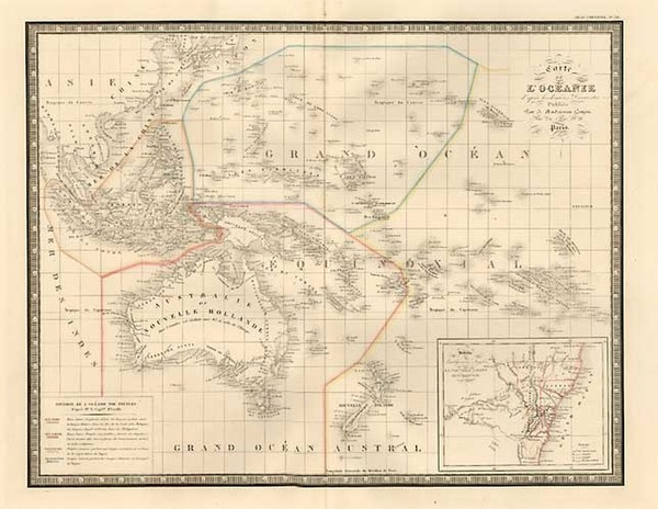 69-Australia & Oceania, Australia, Oceania, New Zealand and Other Pacific Islands Map By J. An