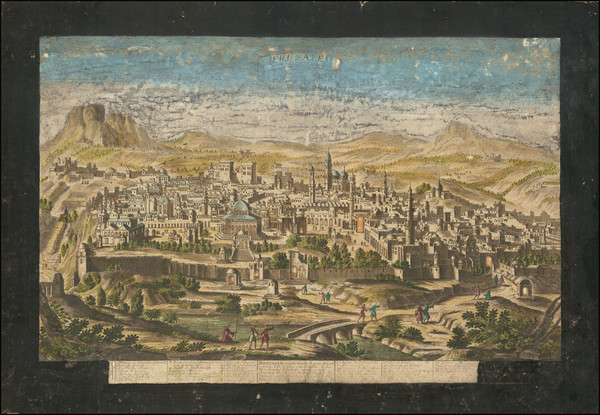 49-Jerusalem Map By Jacques Chereau