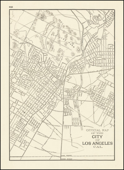 13-Los Angeles Map By George F. Cram