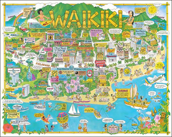 15-Hawaii Map By Chuck Davis