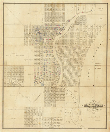 65-Wisconsin Map By Increase Lapham